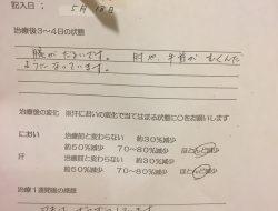 ミラドライ O.Hさん 治療1週間後 滋賀大津石山院